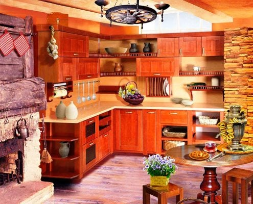 кухня-в-частном-доме-фото