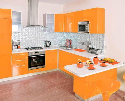 оранжевая-кухня-глянец
