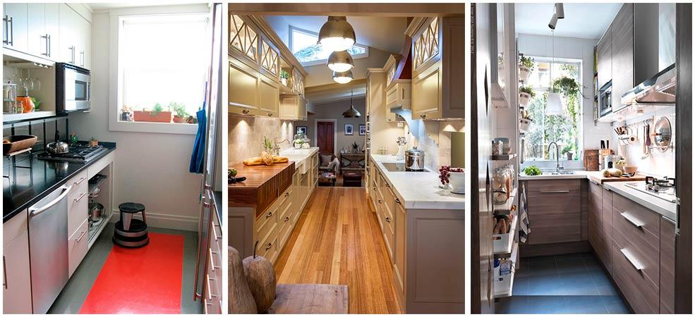дизайн-узких-кухонь