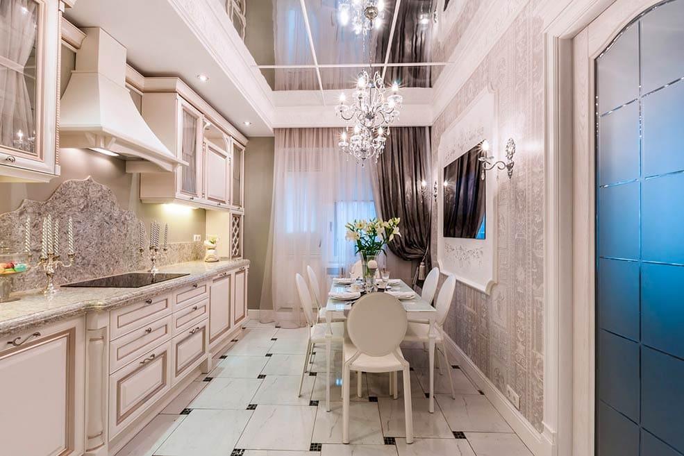 классическая-узкая-кухня