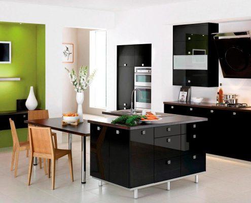 кухонный-гарнитур-чёрный-модерн