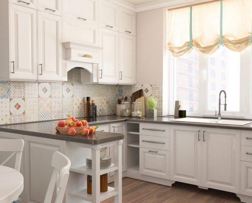 п-образная-кухня-в-белых-тонах