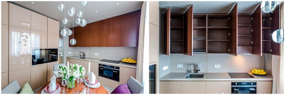 Кухня-из-МДФ-с-отделкой-эмалевый-глянец-и-облицовкой-из-шпона