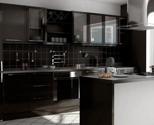чёрная-крашеная-кухня