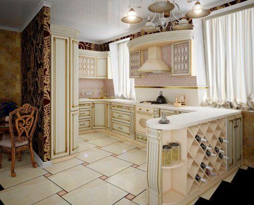 дизайн-кухни-из-дерева