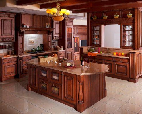 кухня-из-дерева-классика