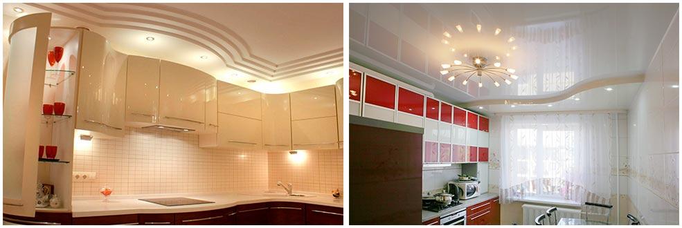 кухня-под-потолок-глянец