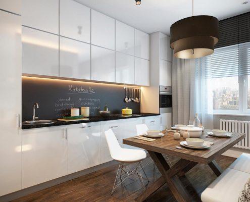 шкафы-на-кухне-под-потолок
