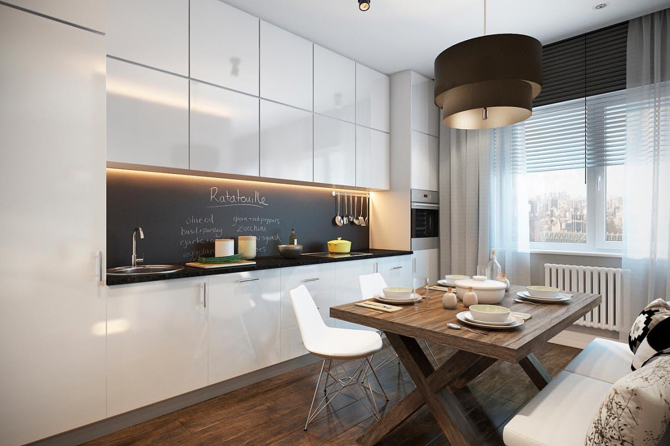 кухня под потолок фото