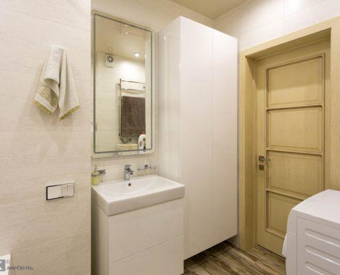 подвесная Белая-мебель-в-ванную-комнату-из-крашенного-МДФ-1003