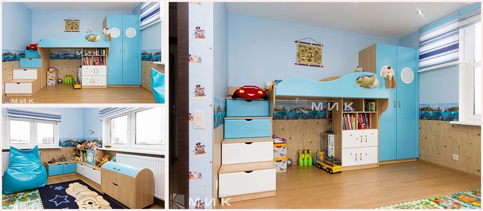 детская-мебель-в-голубом-цвете-фото