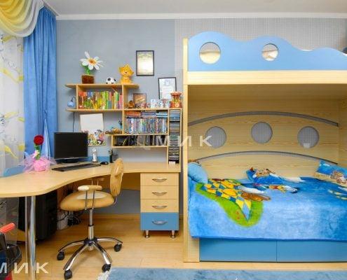 мебель-жёлто-голубого-цвета-для-детской
