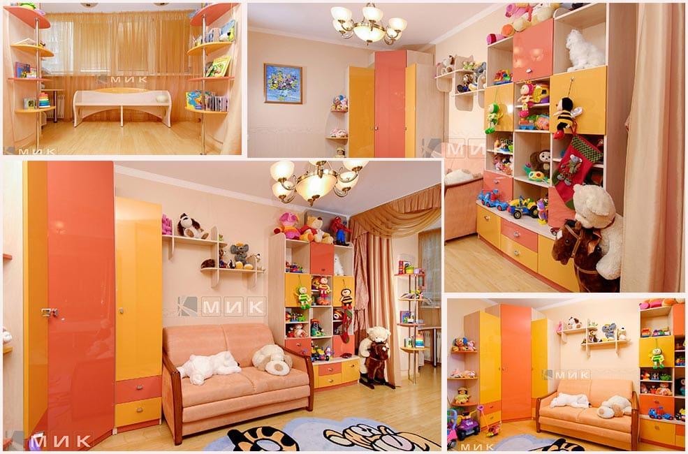 оранжевая-детская-мебель-для-девочки