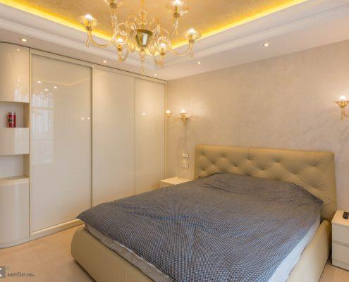 бежевая спальня дизайны на фото