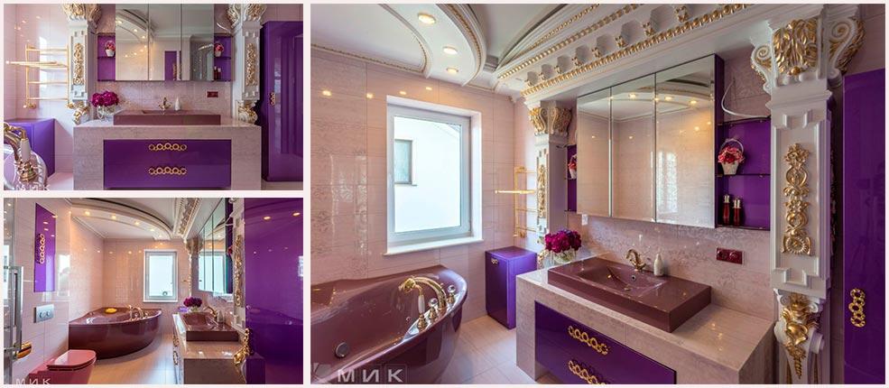 Фиолетовая-мебель-для-ванной-фото
