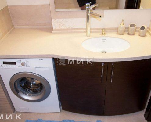 мебель-для-ванной-коричневая