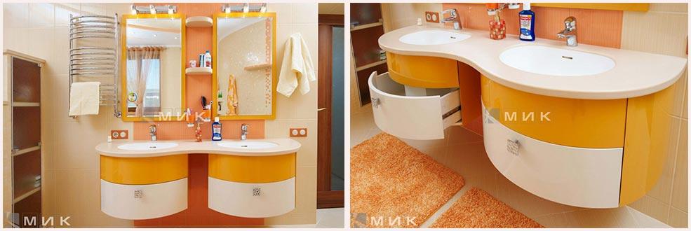 оранжевая-мебель-для-ванной