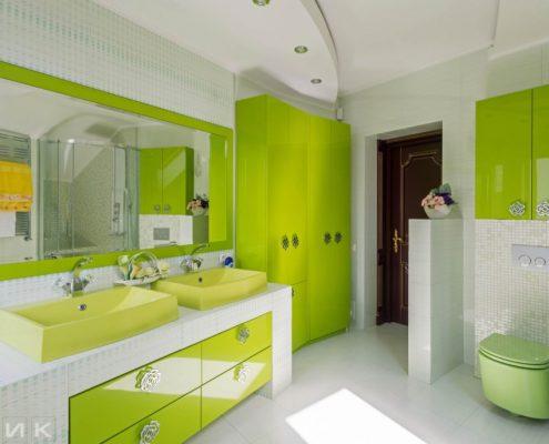 ванная-комната-в-зелёном-цвете