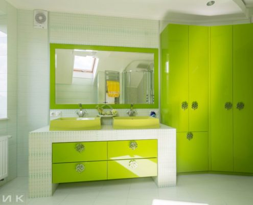 зелёная-мебель-для-ванной-модерн