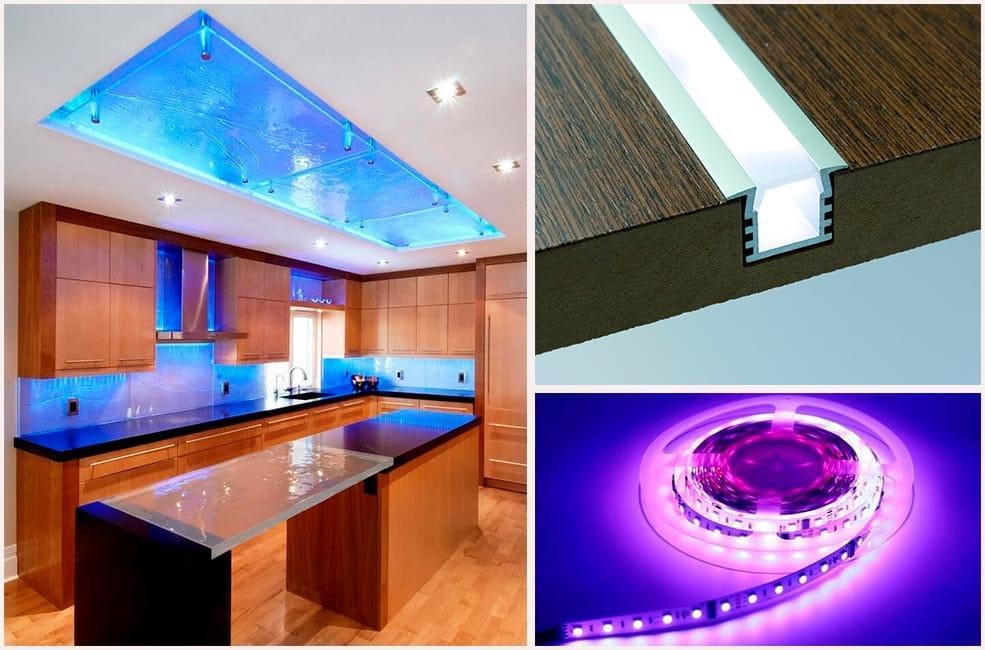 led-подсветка-для-кухни-фото