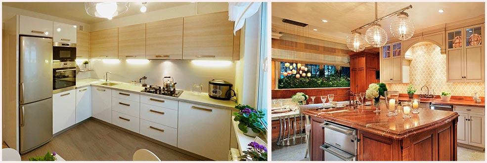 тёплый-свет-на-кухне-фото