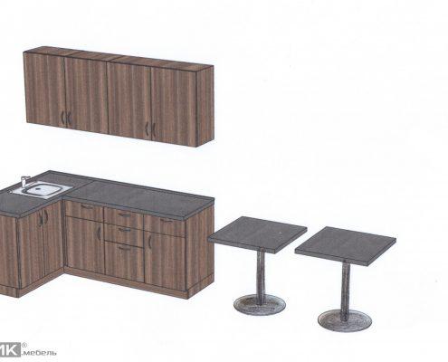 эскиз кухонного гарнитура для офиса