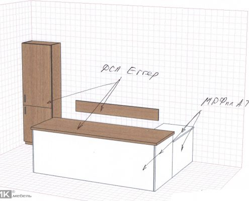 Эскиз стола в приемную