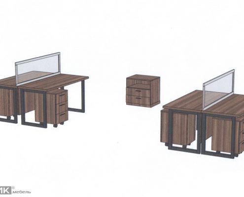 Эскиз офисной мебели