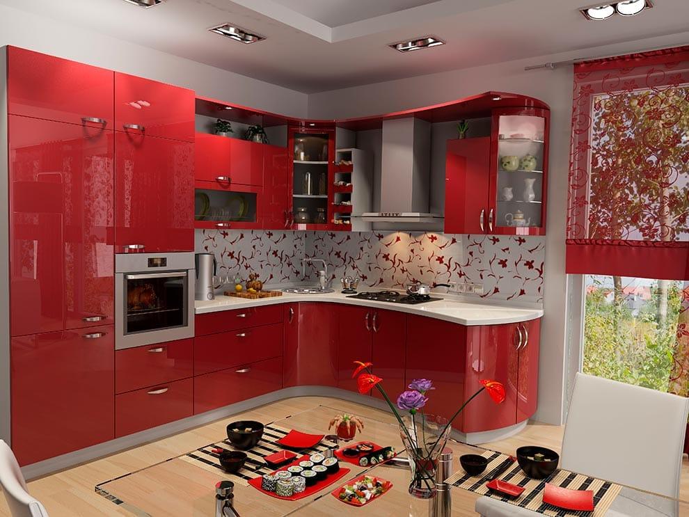 дизайн-красной-кухни-под-заказ-позняки