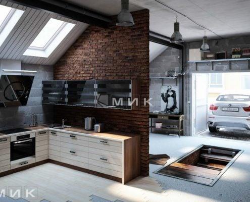 дизайн-стильной-кухни-лофт