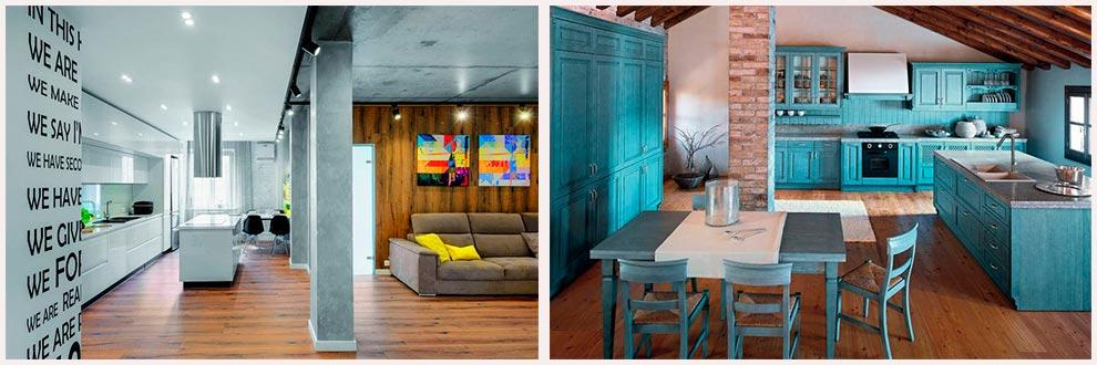 кухни-студии-с-колоннами-на-фото