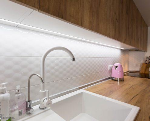 Встроенная подсветка в кухне