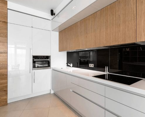 современная-кухня-без-ручек-фото