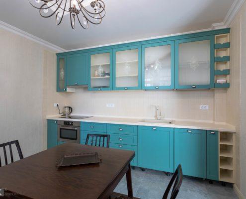 Кухня-с фрезерованным МДФ фасадом