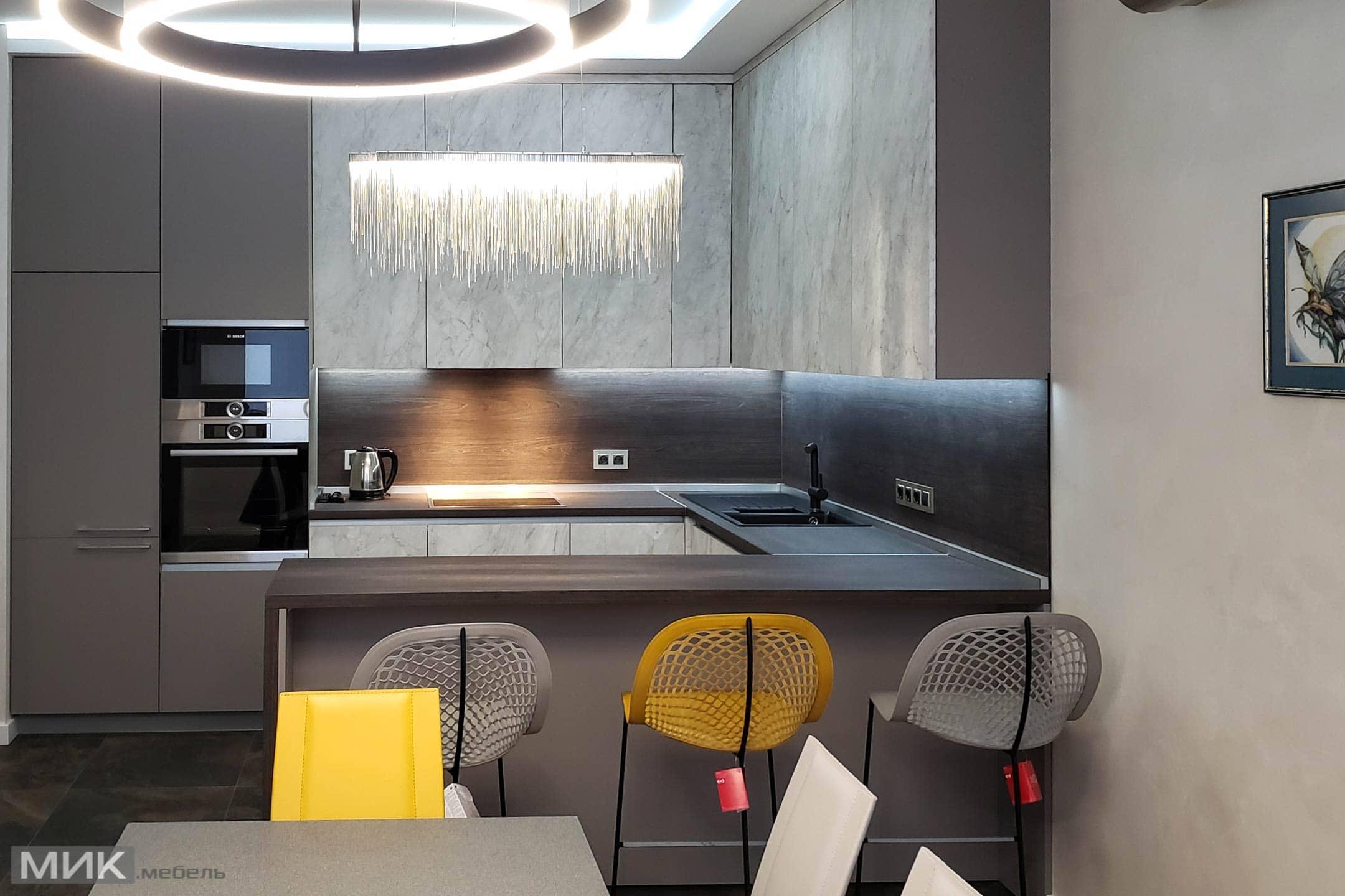 стінові панелі з ДСП на кухні