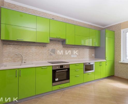зелена пряма кухня