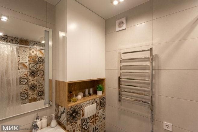 3-белый шкаф в ванной на заказ