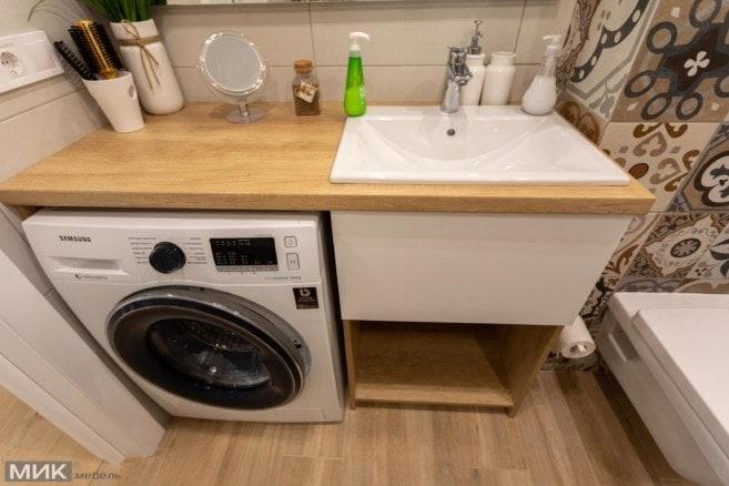 4-Тумба для ванной комнаты со стиральной машиной